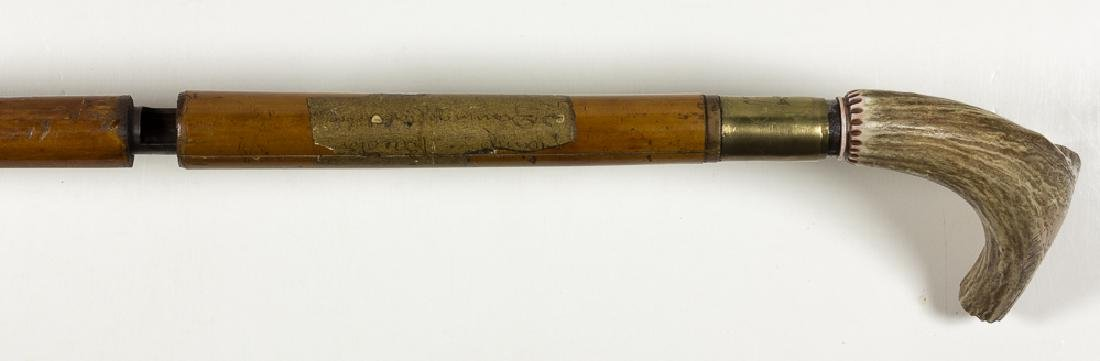 DUMONTHIER-STYLE CANE GUN WITH STAG GRIP - 4