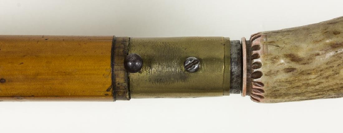 DUMONTHIER-STYLE CANE GUN WITH STAG GRIP - 5