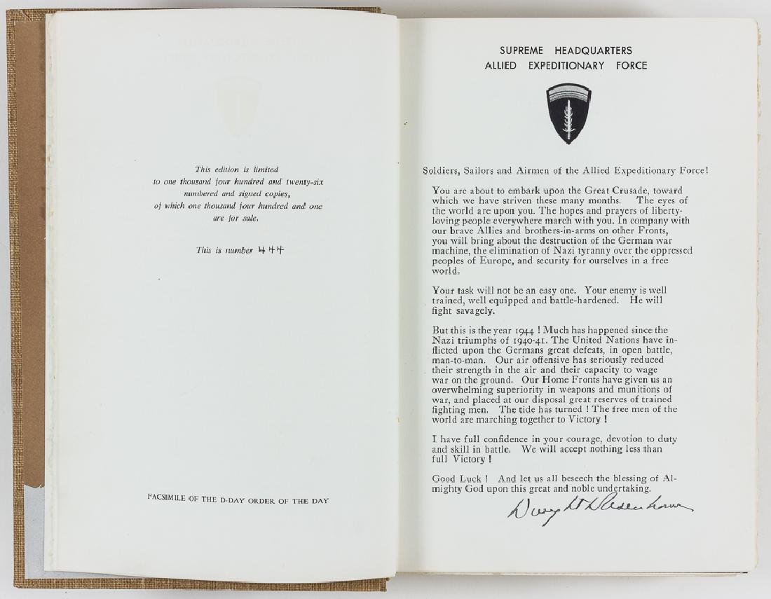 """CRUSADE IN EUROPE"" SIGNED BY DWIGHT EISENHOWER AND"