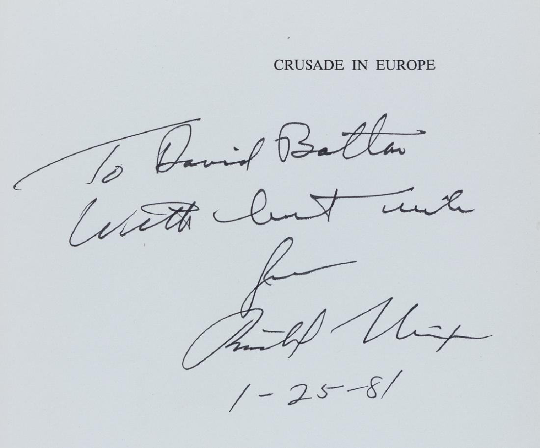 """CRUSADE IN EUROPE"" SIGNED BY DWIGHT EISENHOWER AND - 2"