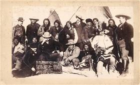 """""""INDIAN CHIEFS AND U.S. OFFICIALS"""" AT PINE RIDGE, WITH"""