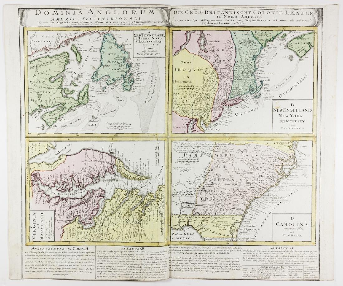 Map Of America Eastern Seaboard.Early Map Of The American Eastern Seaboard By Homann