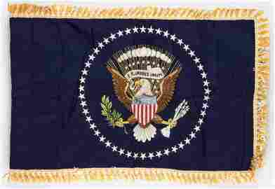 PRESIDENTIAL LIMOUSINE FLAG FROM THE ADMINISTRATIONS OF