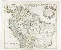 EARLY MAP OF SOUTH AMERICA BY GUILLAUME DELISLE