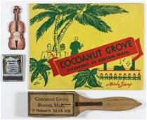 (COCOANUT GROVE FIRE) COCOANUT GROVE NIGHTCLUB RELICS