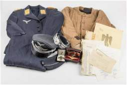UNIFORM, AWARD AND DOCUMENT GROUPING OF LUFTWAFFE ACE
