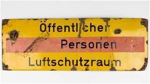 LUFTSCHUTZ AIR RAID SHELTER SIGN