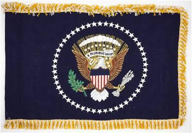 PRESIDENTIAL LIMOUSINE FLAG FROM THE EISENHOWER