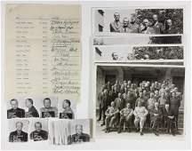 ASHCAN SIGNATURES OF FIFTY ACCUSED GERMAN WAR CRIMINALS