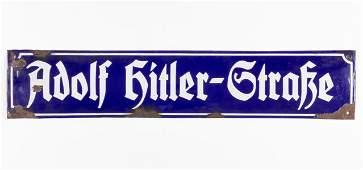 ADOLF HITLER STREET SIGN