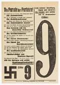NSDAP GERMAN FEDERAL ELECTION BROADSIDE