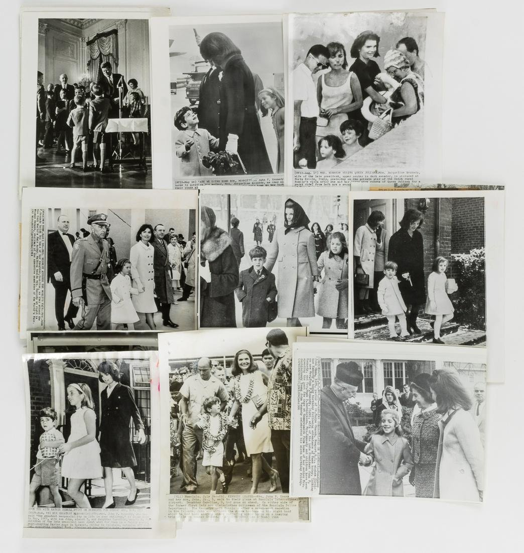 THE KENNEDYS AND THEIR CHILDREN PRESS AND WIRE