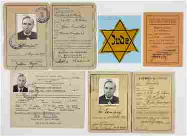 JUDE STAR AND REFUGEE DOCUMENTS OF GERMAN JEW LEO