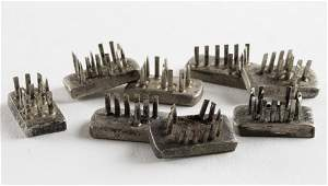 AUSCHWITZ-TYPE CONCENTRATION CAMP METAL TATTOO STAMPS