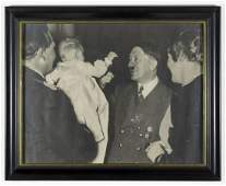 PHOTOGRAPH OF HITLER WITH THE GOERING FAMILY