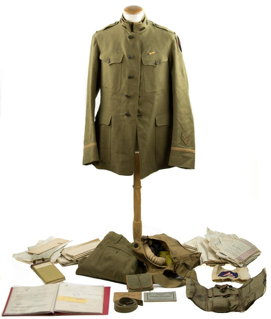UNIFORM AND DOCUMENT GROUPING OF LT. DAVID W. PETERSON,