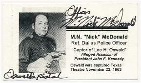 (LEE HARVEY OSWALD) M. NICK MCDONALD