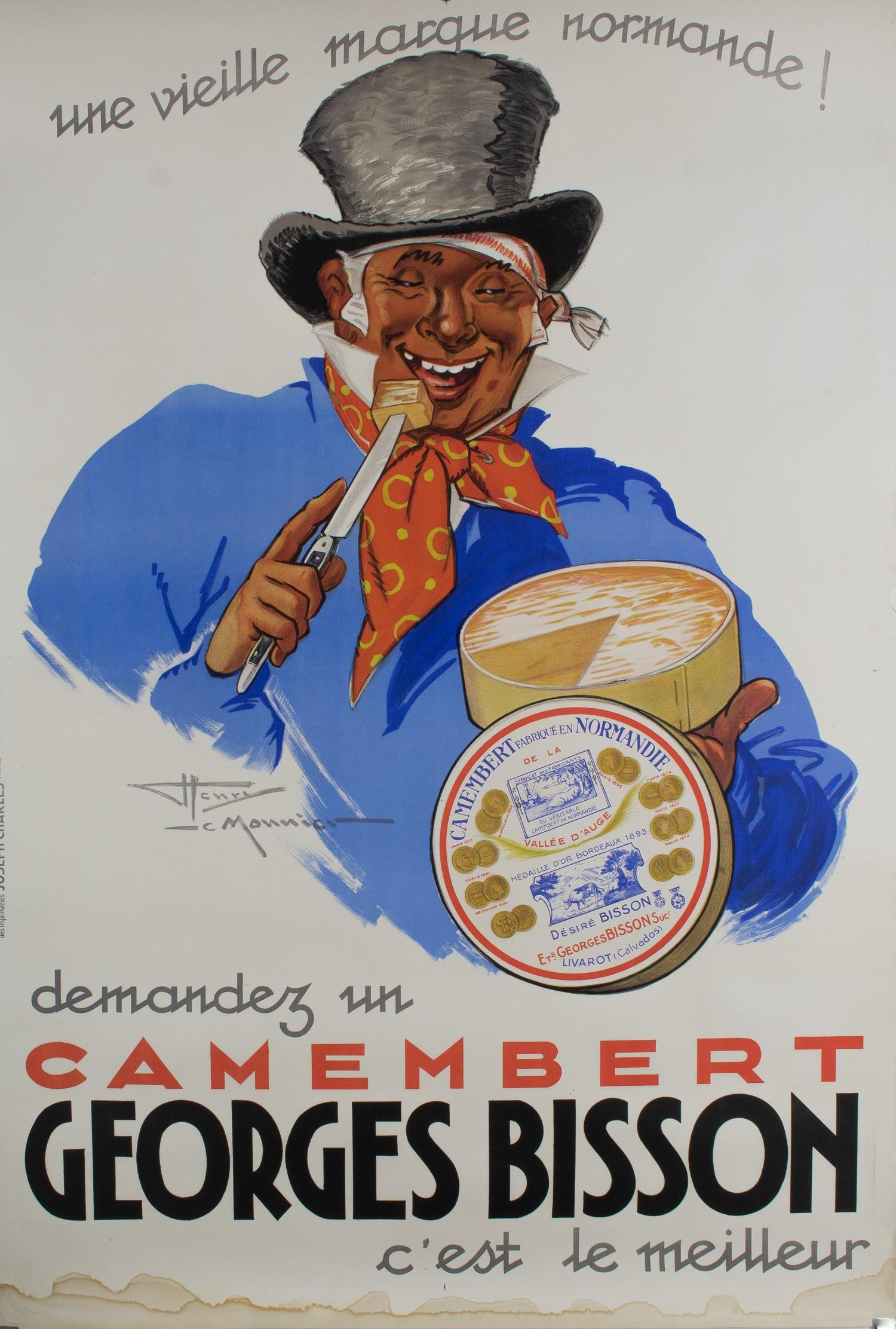 FRENCH ADVERTISING POSTER: GEORGES BISSON CAMEMBERT