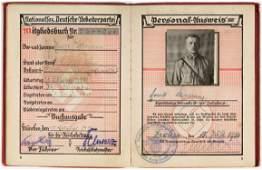 S.A. MAN'S NSDAP MEMBERSHIP BOOK