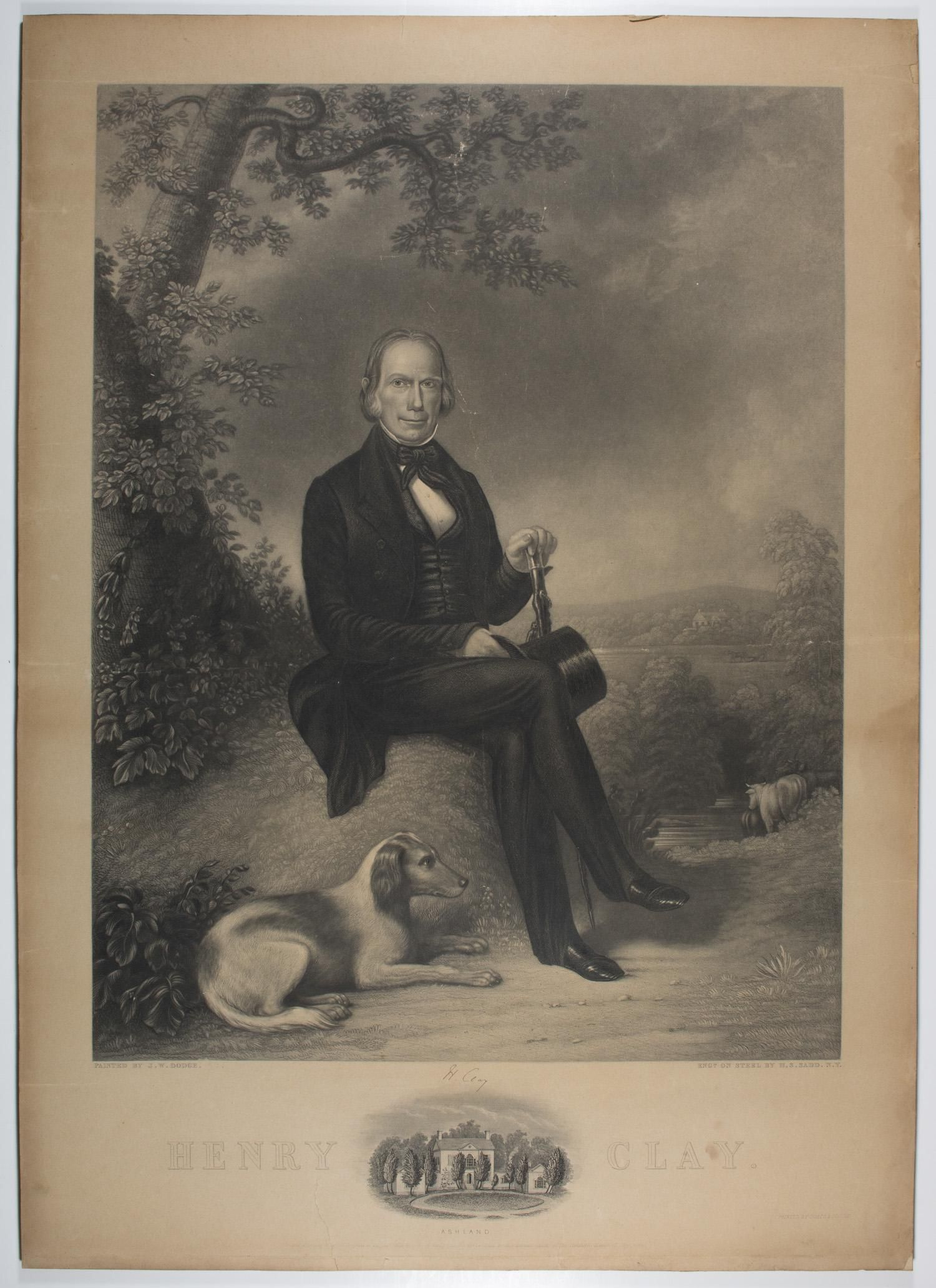 ENGRAVING: 'HENRY CLAY / PAINTED BY J.W. DODGE'