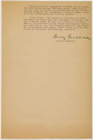 HEINZ GUDERIAN'S ORIGINAL MANUSCRIPT ON THE SUCCESS OF