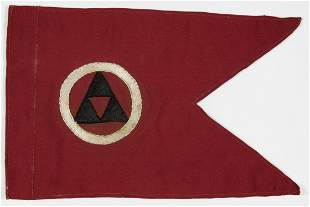 BERNARD LAW MONTGOMERY'S CAR PENNANT FROM THE B.E.F.