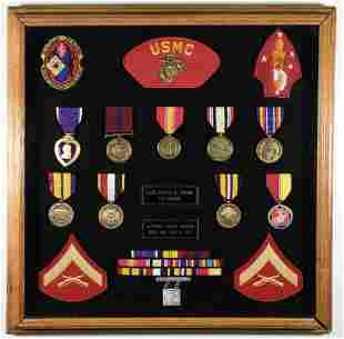 MEDAL GROUPING OF CORPORAL WALTER K. O'HAIRE, K.I.A. IN