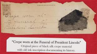 ABRAHAM LINCOLN FUNERAL MOURNING CREPE