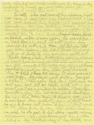 CHARLES MANSON WRITES ABOUT HIS SON