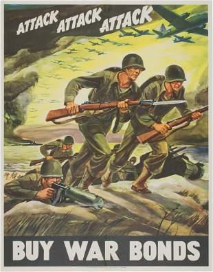 'ATTACK ATTACK ATTACK' WAR BONDS POSTER