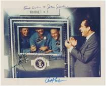 APOLLO 11 AND RICHARD NIXON SIGNED PHOTO