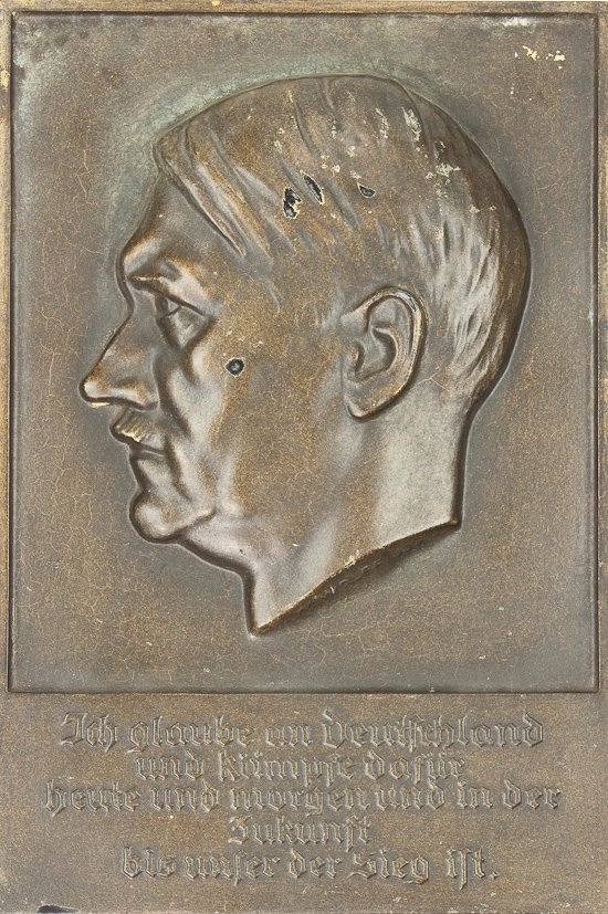 Adolf Hitler Bronze Plaque