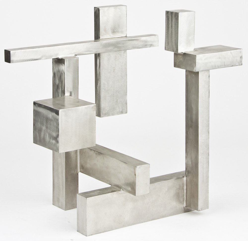 STAINLESS STEEL ABSTRACT TABLE SCULPTURE - GREG SMITH