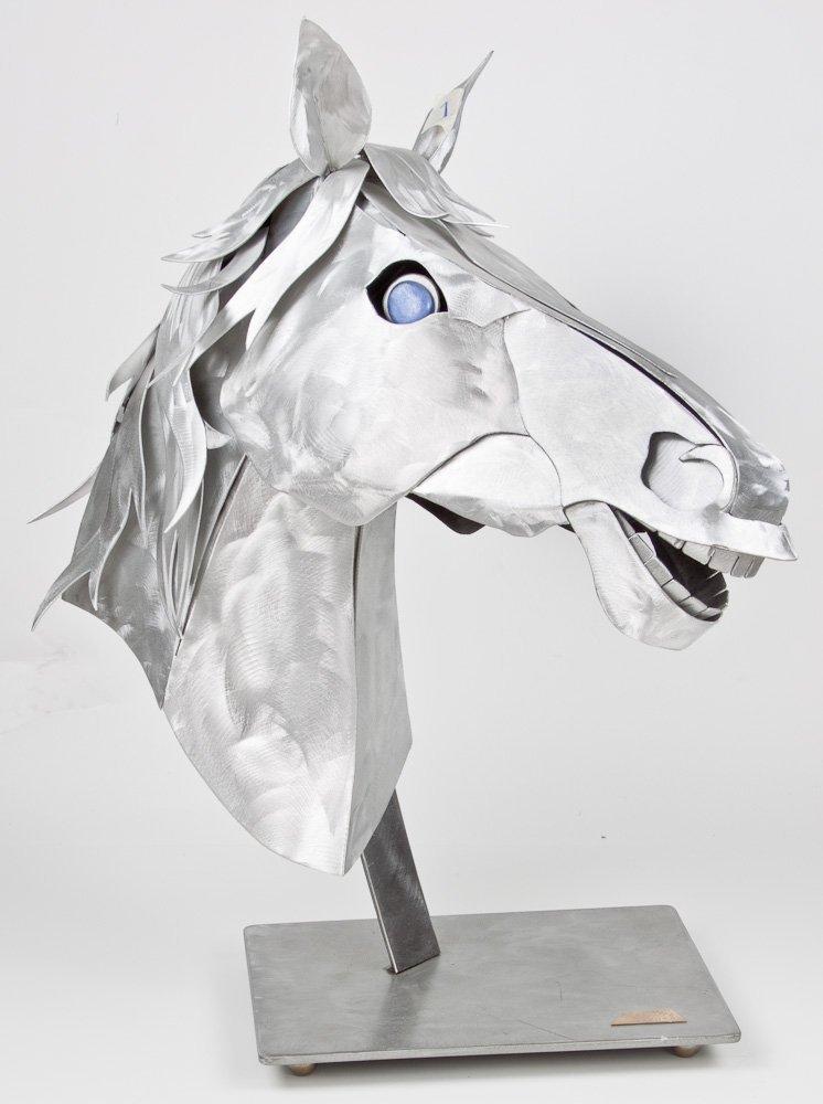 STYLIZED ALUMINUM HORSE HEAD - ALEX KOVACS