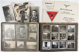 FLIEGERKORPS PHOTOGRAPH ALBUM AND DOCUMENT GROUPING