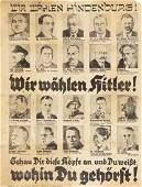 ANTI-SEMITIC HITLER ELECTION HANDBILL