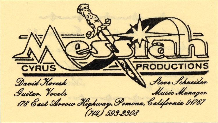 Koresh business card david koresh business card magicingreecefo Gallery