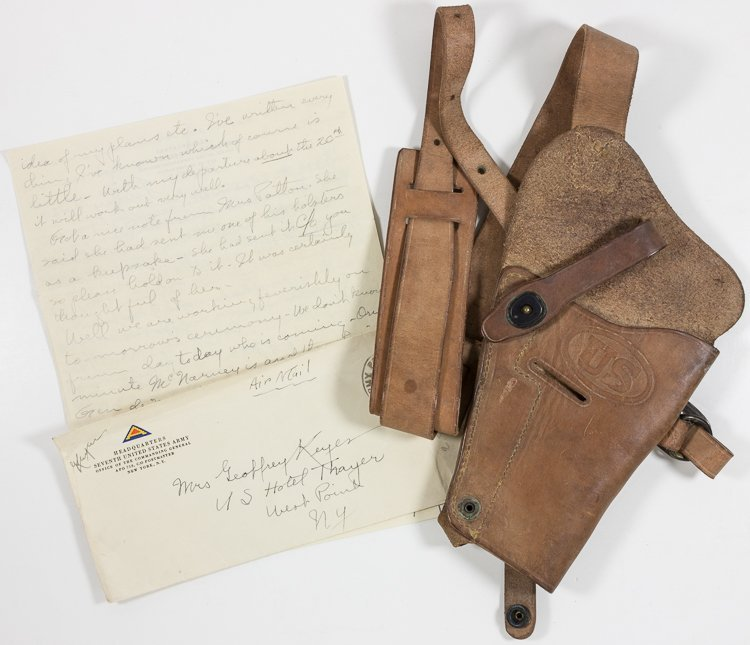 PISTOL HOLSTER ATTRIBUTED TO GEN. GEORGE S. PATTON