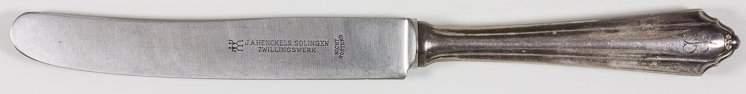 EVA BRAUN SILVER DINNER KNIFE