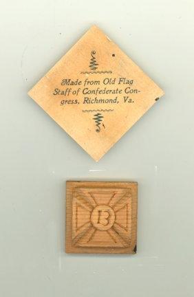 Confederate Congress Flag Staff Relic
