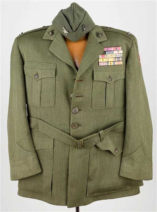 tunic and garrison cap of col john m arthur u s m c