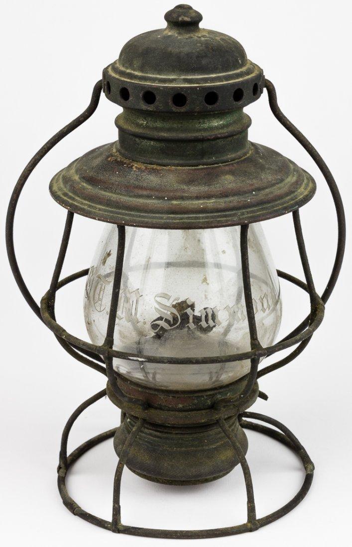 KELLY LAMP CO. CONDUCTOR'S RAILROAD LANTERN