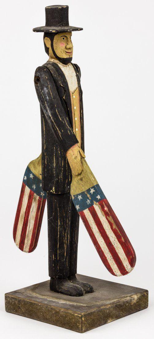 ABRAHAM LINCOLN HAND-CARVED FOLK ART