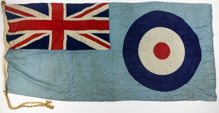 DOUGLAS BADER'S R.A.F. DIGBY SQUADRON FLAG