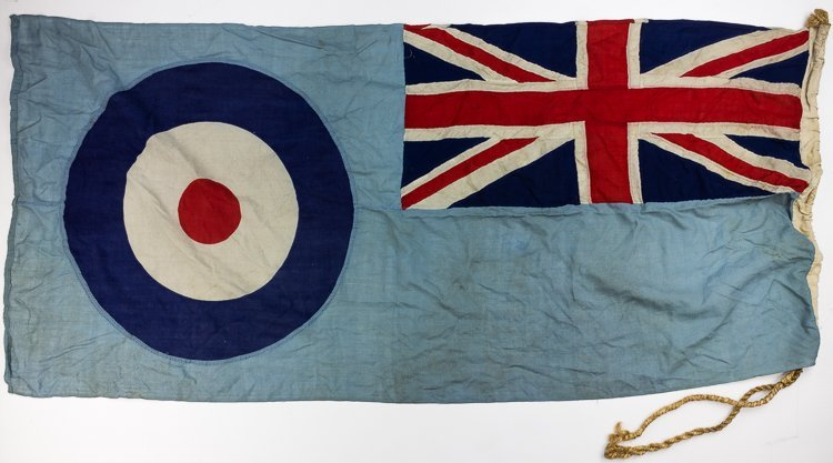 DOUGLAS BADER'S R.A.F. DIGBY SQUADRON FLAG - 2