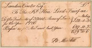 BRYAN FAIRFAX 8TH LORD FAIRFAX COLLECTS RENTS ON HIS