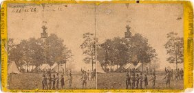 Stereoview: Thaddeus Lowe Ascends In A Ballon