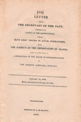Instructions To Naval Commanders To Halt Slave Trade