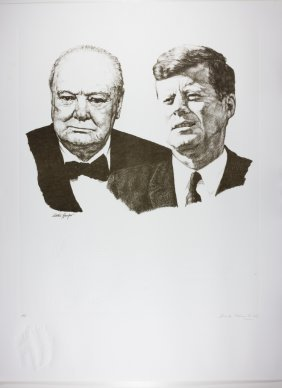 (winston Churchill And John F. Kennedy)