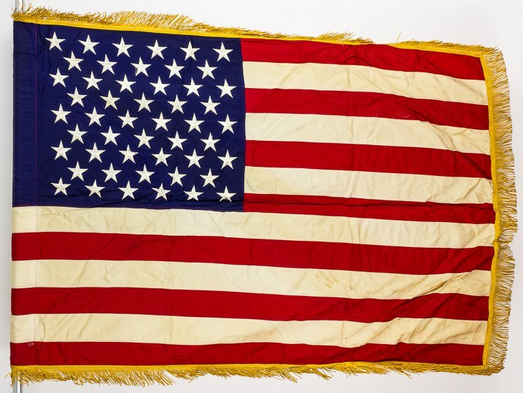 THE LAST AMERICAN COMBAT FLAG USED IN THE VIETNAM WAR